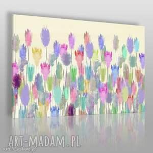 obraz na płótnie - kwiaty łąka kolory 120x80 cm 71301, kwiaty, łąka, kolorowy