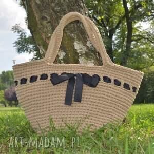 pod choinkę prezent, koszyk plażowy, koszyk, torba, bag, boho, szydełkowy