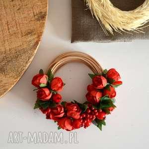mini wianek, miniwianek, kwiat, róża, bukiet, obrączka dekoracje