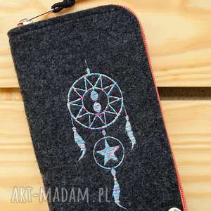 handmade etui filcowe na telefon - dreamcatcher