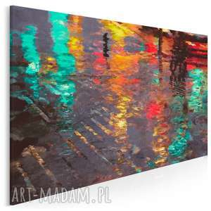 Obraz na płótnie - ABSTRAKCJA ODBICIE 120x80 cm (06002), odbicie, ulica, światła