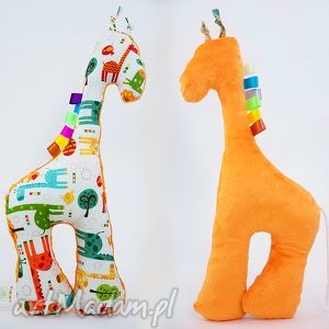 Żyrafka ŻYRAFY pomarańczowy, żyrafka, przytulanka
