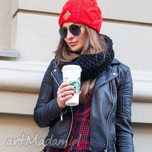 I'm a Hero! Czerwone Serduszko, jesień, zima, czapka, handmade, włóczka
