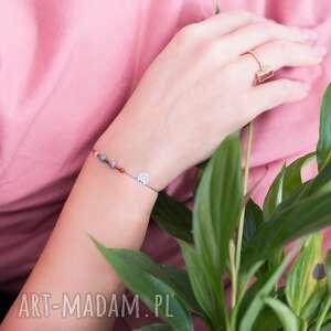 Bransoletka zodiac rak koral jaspis jadeit kamień księżycowy