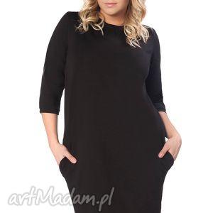 Sukienka Halina 1, wygodna, swobodna, elegancka, ściągacz, wiązana, kieszenie