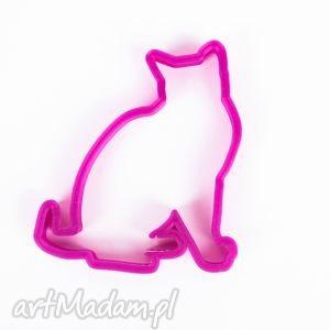 foremka siedzący kotek do pierników druk 3d - foremka, foremki, ciastka
