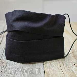 maseczki czarna maseczka ochronna męska, bawełniana wielokrotnego
