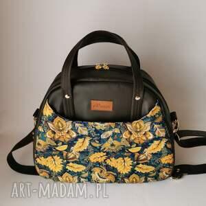 handmade na ramię torebka damska erica - eko skóra kuferek kolor brązowo