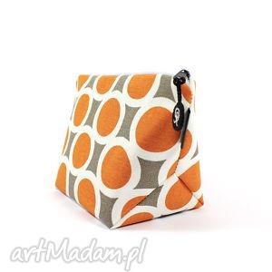 Prezent kosmetyczka orange kółka, prezent, kobieta, podróż, przechowywanie