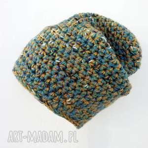 czapka hand made no 021 beanie szydło - zimowa, ciepła, prezent