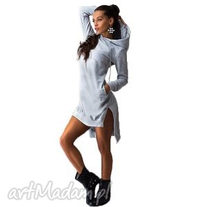 bawełniana tunika z kapturem, sukienki, kaptur, letnia, wiosenna, codzienna ubrania