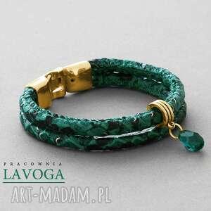 hand made bransoletki snake bracelet in emerald ii