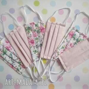 zestaw bawełnianych maseczek dla kobiety 6 sztuk, maseczki, maski, bawełniane