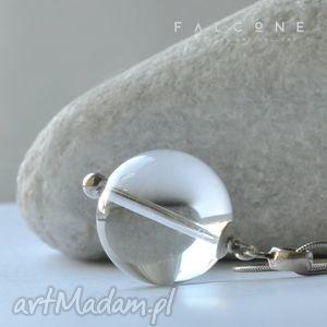 pure - wisior, naszyjnik, kula, srebro, kwarc, przejrzysty