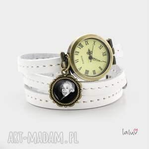skórzany zegarek-bransoletka einstein, zegarek - rękę, fizyka, teoria