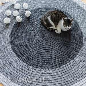 hand-made dywany dywan 110 cm ze sznurka bawełnianego, miętowy
