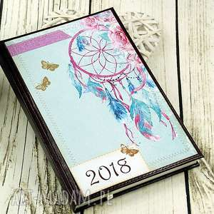 scrapbooking notesy kalendarz książkowy 2018- łapacz snów, kalendarz, łapacz, snów