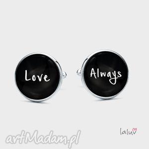 spinki do mankietów love - miłość, zawsze, razem, wesele, ślub