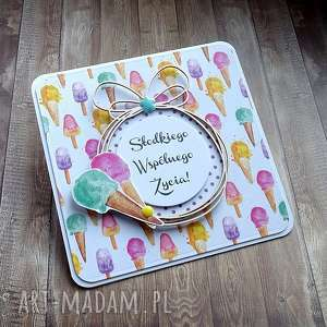 Słodkiego wspólnego życia!, życzenia-ślubne, kartka-na-ślub, lody, słodycze, słodka