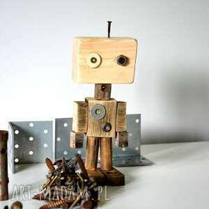 wyjątkowy prezent, dekoracje drewniany robot, drewniany, maszyna