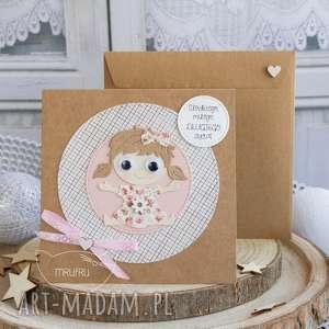 Personalizowana kartka dla dziewczynki - Narodziny, Chrzest, Roczek, Urodziny itp