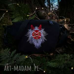 mini nerka maska mononoke, czarna nerka, anime, księżniczka