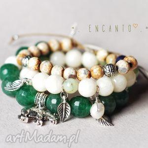 *Elf*, kamienie, naturalne, perła, zawieszka, łańcuszek, sznurek