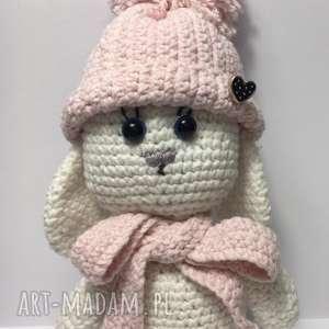 konieckropka słodki króliczek, szydełkowe, dziecko, prezent, dziewczynka