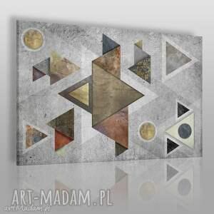 obraz na płótnie - loft geometryczny 120x80 cm 70701, loft, industrialny, beton