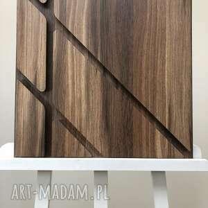 obraz drewno 3d 50x50cm iii, dekoracja, obraz, panel, drewno, laminat