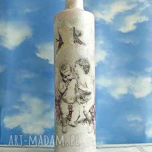 anioły butelka szklana szepczące aniołki - ręcznie