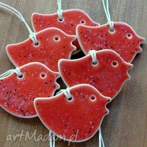 koralowe ptaszki, zawieszki, koralowe, romantyczne, wesołe, zwierzęta dom