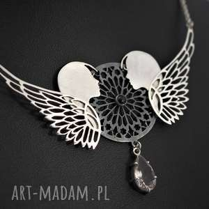 Srebrny naszyjnik ghotic angels naszyjniki jachyra jewellery