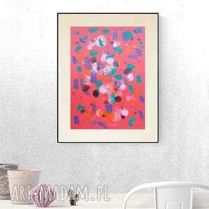 Abstrakcyjna grafika na ścianę, minimalistyczna dekoracja