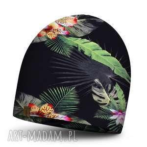 handmade czapki czapka dziecięca na jesień podwójna, kolorowa dla chłopca