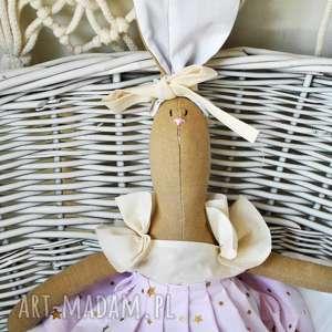 hand-made lalki pani królik maskotka z wyszytym imieniem