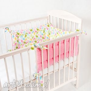 pokoik dziecka ochraniacz 3 częściowy minky - ptaszki, minky, ochraniacz, łóżeczka