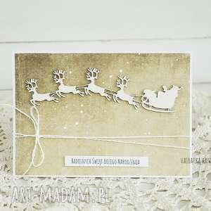 prezenty świąteczne Kartka z zaprzęgiem Mikołaja, 371, boże-narodzenie, kartka