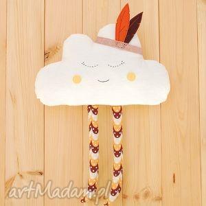 chmurka z pióropuszem - chmurka, chmura, pióropusz, zabawka, lalka, przytulanka