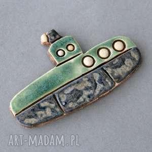 łódź podwodna-magnes, ceramika, woda, pływanie, on, prezent, kolekcjoner