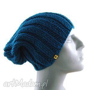 Prezent czapka męska ciemnoturkusowa, czapka, męska, mężczyzna, zima, prezent, zimowa