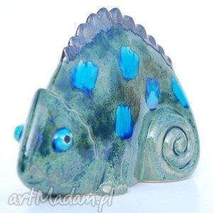 Kameleon - ,ceramika,zwierzęta,figurki,dekoracja,