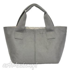 14-0002 jasnoszara damska torebka do ręki shopper bag pelican, modne, damskie