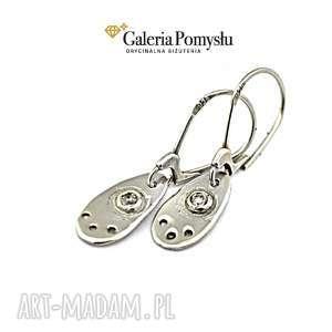 święta prezent, kolczyki z cyrkoniami, kolczyki, wiszące, srebro, 925