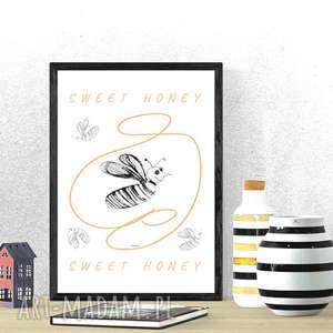 śmieszny plakat z pszczołą, pszczółki plakat, zabawny pszczółką, ładny