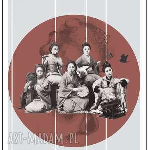 święta, plakat styl japoński, japoński, japonia, gejsza