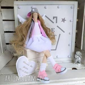 handmade lalki anioł stróż pamiątka chrztu komunii
