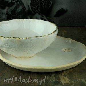 ceramika lace 2 zestaw naczyń, talerz, miska, misa, zestaw, obiad, naczynia