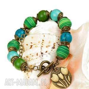 c02 bransoletka z kolorowych kamieni, kolorowa bransoletka