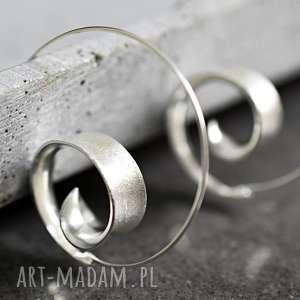 925 Srebrne kolczyki spiralne BRUNEI II , kolczyki, spirale, srebro, srebrne,